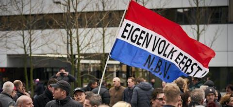 Demonstratie in Rotterdam.