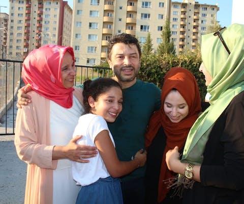 Oud-voorzitter van Amnesty Turkije Taner Kılıç na zijn vrijlating