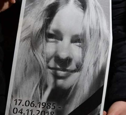 Protest na de dood van Kateryna Handzyuk