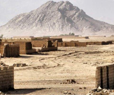 Afghanistan, verlaten dorp in Kandahar