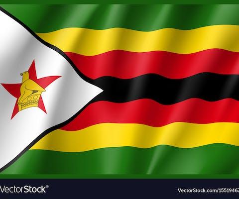De vlag van Zimbabwe
