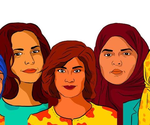 Loujain al-Hathloul, Iman al-Nafjan, Aziza al-Youssef, Samar Badawi en Nassima al-Sada voerden actie tegen het Saudische verbod op autorijden voor vrouwen en op het systeem waarbij vrouwen voor veel zaken afhankelijk zijn van hun mannelijke voogd.
