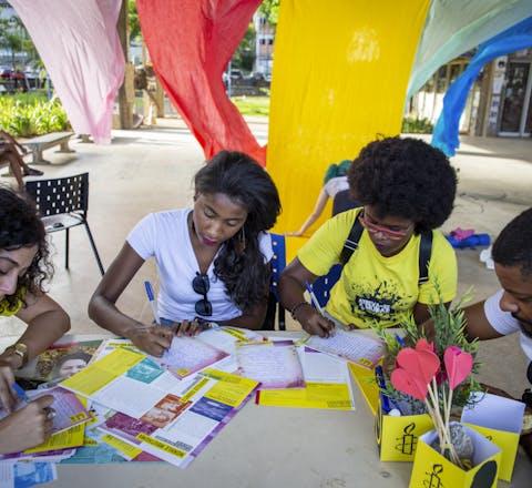 Jonge activisten in Brazilie