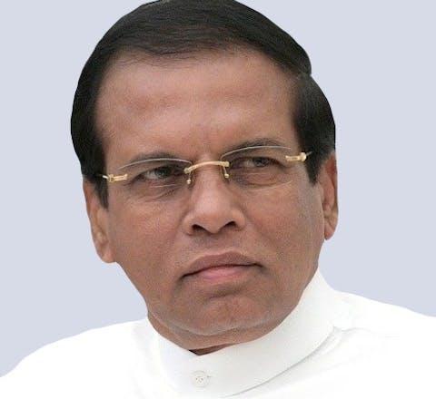President Maithripala Sirisena van Sri Lanka
