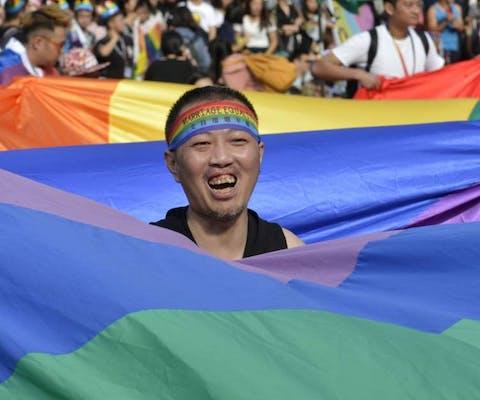Blijdschap in Taiwan om het wetsvoorstel voor het homohuwelijk