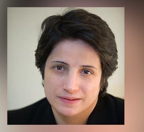 Advocaat Nasrin Sotoudeh uit Iran is tot 33 jaar cel en 148 zweepslagen veroordeeld voor haar vreedzame mensenrechtenwerk