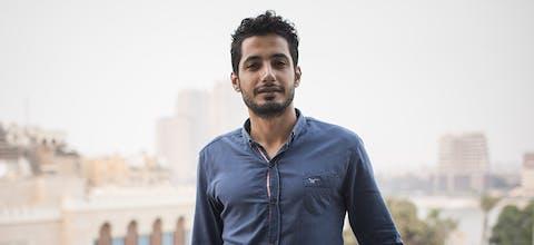 Politiek activist Islam Khalil uit Egypte was gewetensgevangene