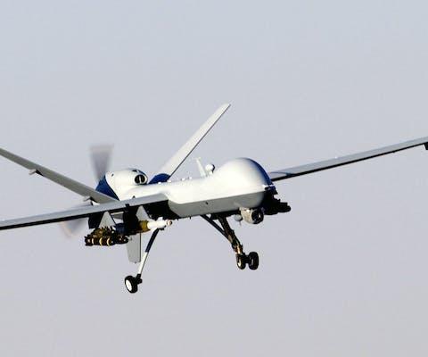 Een drone van het type Reaper.