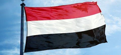 De vlag van Jemen