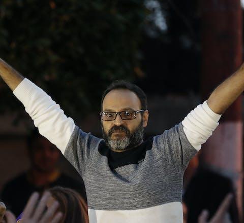 Ziad Itani na zijn vrijlating uit de gevangenis op 13 maart 2018