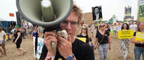Demonstratie op Zwarte Cross 2015