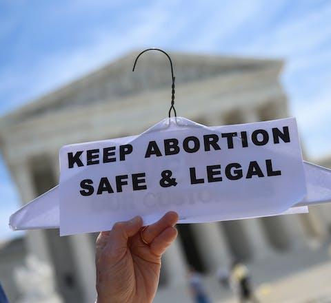 Protest in de Verenigde Staten tegen de inperking van het recht op abortus
