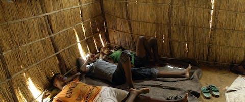 Eritrese vluchtelingen in een kamp in Sudan.