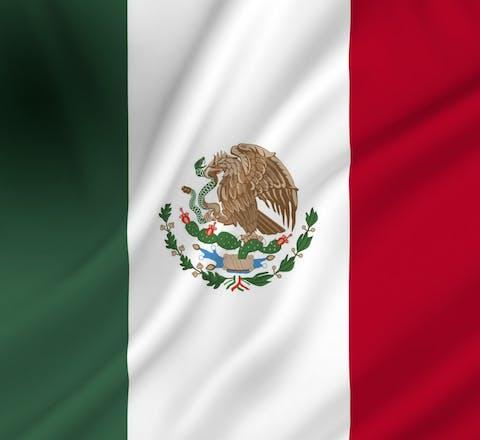 De vlag van Mexico. Het land stelt een onderzoek in naar de moord op milieuactivist Samir Flores Soberanes.