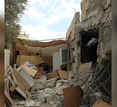 Vernieling van huizen in bezet Palestijns gebied door Israël