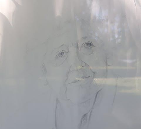 Kunstwerk bij de Kunst en Mensenrechtenwandeling van Amnesty Vlaardingen