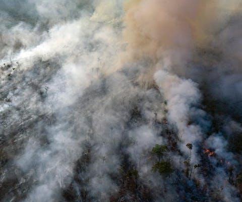 Bosbranden in Mato Grosso in het Braziliaanse Amazonegebied, 23 augustus 2019