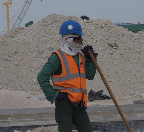 Bouwvakker, Lusail City, Qatar.
