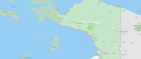 Kaart Papoea