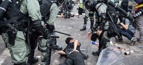Anti-regeringsdemonstranten in Hongkong