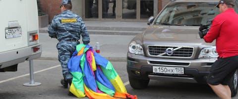 In 2012 arresteerde de politie veertig mensen tijdens de Moscow Pride.