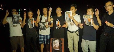 De activisten Wei Xiaobing, He Lin, Liu Guangxiao, Li Shujia, Wang Meiju en Qin Mingxin werden gearresteerd nadat ze een herdenkingsbijeenkomst hadden gehouden voor de overleden Nobelprijs voor de Vrede-winnaar Liu Xiaobo.