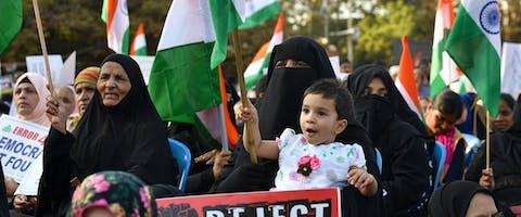 Protesten in Bangalore tegen premier Modi en zijn aangepaste burgerschapswet