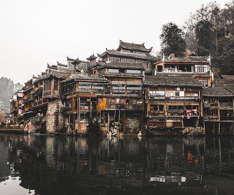 Traditionele huizen in Fenghuang in de provincie Hunan