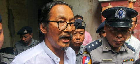 Filmmaker Min Htin Ko Ko Gyi uit Myanma