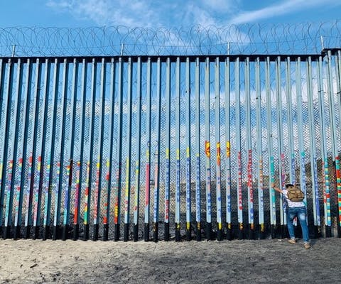 De grens tussen Mexico en de Verenigde Staten
