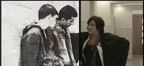 Still uit de film Advocate, over Lea Tsemel (rechts).
