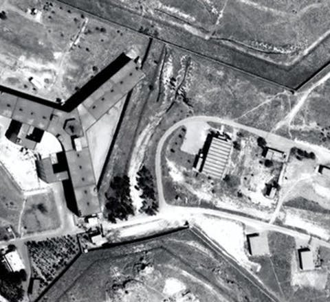 De Saydnaya-gevangenis, even ten noorden van de Syrische hoofdstad Damascus