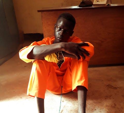 Magai Matiop Ngong in de gevangenis van Juba, Zuid-Sudan