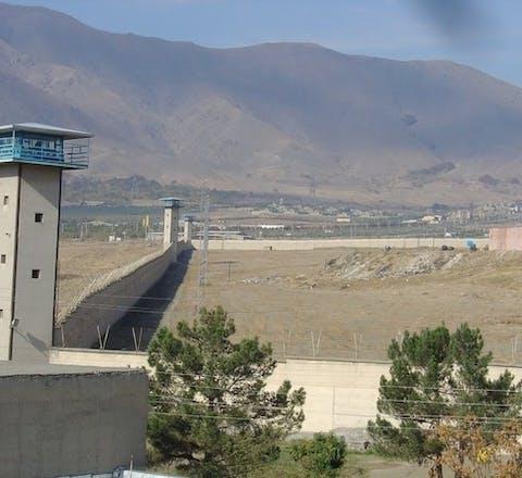 De Rajai Shahr-gevangenis in Karaj in de provincie Alborz