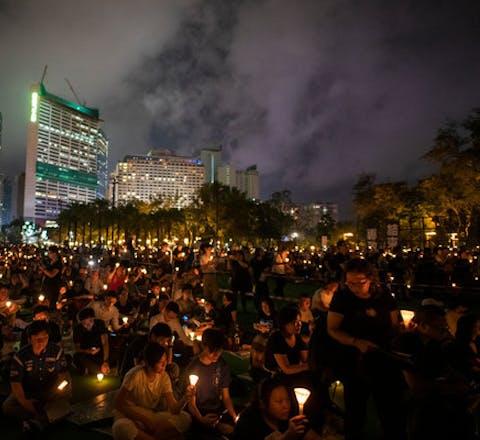 Herdenking van de gebeurtenissen op het Tiananmen-plein in 2019, Hongkong