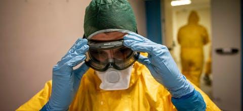 Arts in een ziekenhuis in de Italiaanse hoofdstad Rome