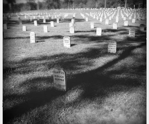Begraafplaats in Livingstone waar alle Texaanse geëxecuteerden liggen wier lichaam niet door nabestaanden is opgehaald.