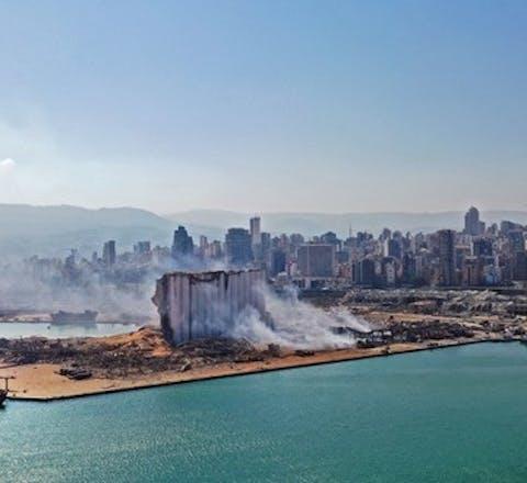 Explosie in het havengebied van de Libanese hoofdstad Beirut, 4 augustus 2020